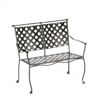 Wrought Iron Hospitality Benches Maddox Stacking Bench