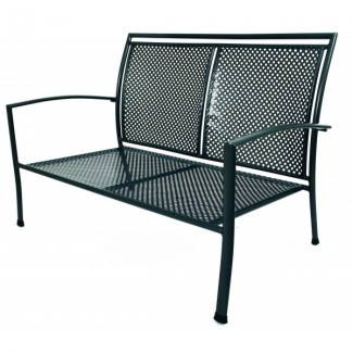 Wrought Iron Hospitality Benches Reno Love Seat