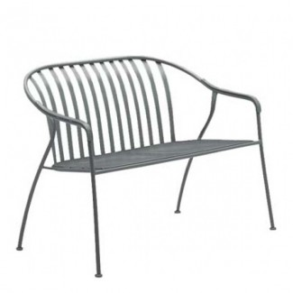Wrought Iron Hospitality Benches Valencia Stacking Barrel Loveseat