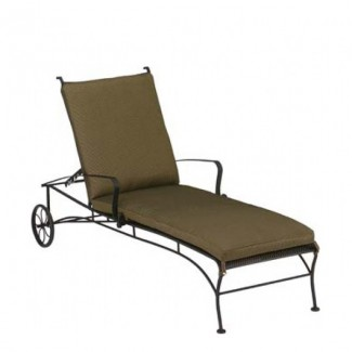 Bradford Wrought Iron Adjustable Chaise Lounge