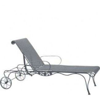 Wrought Iron Hospitality Chaise Lounges Briarwood Adjustable Chaise Lounge
