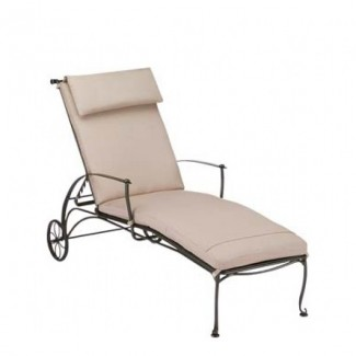 Wrought Iron Hospitality Chaise Lounges Maddox Adjustable Chaise Lounge