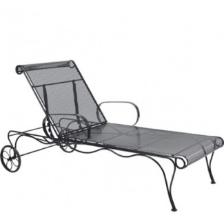 Tucson Wrought Iron Adjustable Chaise Lounge