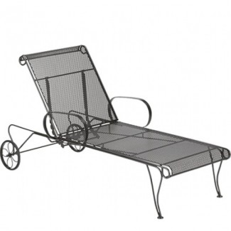 Universal Wrought Iron Adjustable Chaise Lounge
