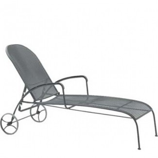 Wrought Iron Hospitality Chaise Lounges Valencia Adjustable Chaise Lounge