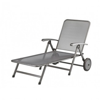 Wrought Iron Hospitality Chaise Lounges Vigo Multi Position Lounger with Wheels