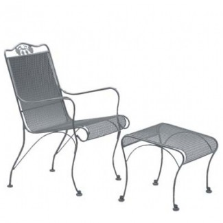 Wrought Iron Hospitality Lounge Chairs Briarwood High-Back Lounge Chair