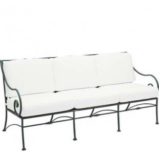 Sheffield Wrought Iron Sofa with Cushions