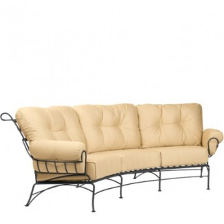 Wrought Iron Hospitality Lounge Chairs Terrace Crescent Sofa