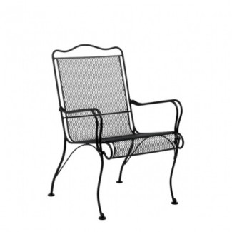 Wrought Iron Hospitality Lounge Chairs Tucson High-Back Lounge Chair