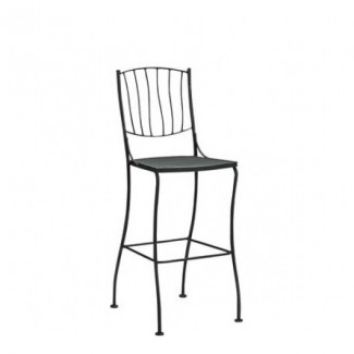 Aurora Wrought Iron Bar Stool