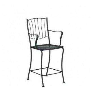Aurora Wrought Iron Counter Stool