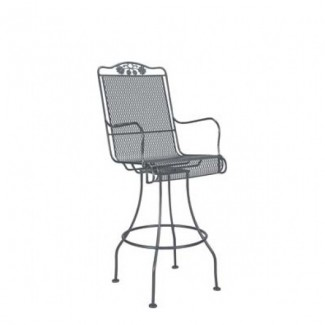 Briarwood Wrought Iron Swivel Bar Stool