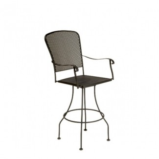 Fullerton  Wrought Iron Swivel Bar Stool