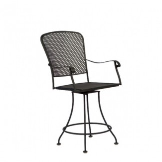 Fullerton  Wrought Iron Swivel Counter Stool
