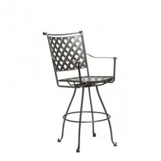 Maddox Wrought Iron Swivel Bar Stool