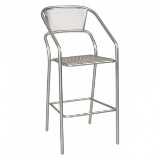 Wrought Iron Restaurant Barstools Portside Stationary Bar Stool