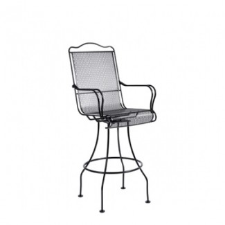 Tucson Wrought Iron Swivel Bar Stool