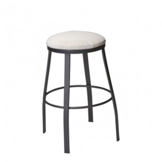 Universal Wrought Iron Backless Bar Stool with Attached Seat