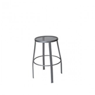 Universal Wrought Iron Bar Stool with Mesh Seat