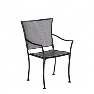 Amelie Stacking Wrought Iron Arm Chair