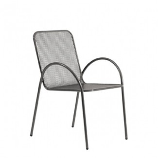 Avalon Stacking Wrought Iron Arm Chair