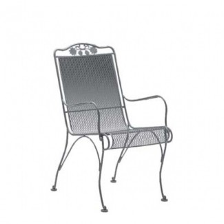 Wrought Iron Restaurant Chairs Briarwood High-Back Dining Arm Chair