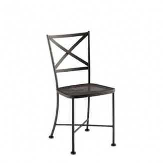 Genoa Wrought Iron Mesh Seat Side Chair
