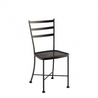 Marsala Wrought Iron Mesh Seat Side Chair