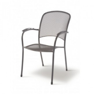 Wrought Iron Restaurant Chairs Carlo Arm Chair