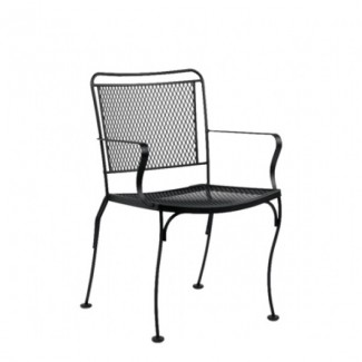 Wrought Iron Restaurant Chairs Constantine Dining Stacking Arm Chair
