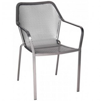Wrought Iron Restaurant Chairs Delmar Stacking Arm Chair
