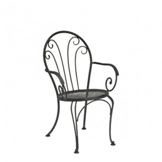 Laurel Wrought Iron Bistro Arm Chair
