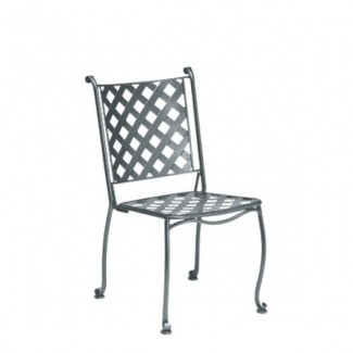 Wrought Iron Restaurant Chairs Maddox Bistro Stacking Side Chair