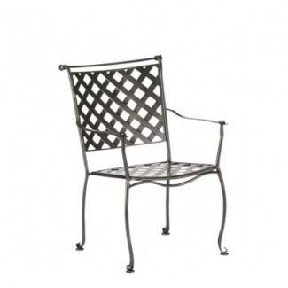 Wrought Iron Restaurant Chairs Maddox Stacking Arm Chair
