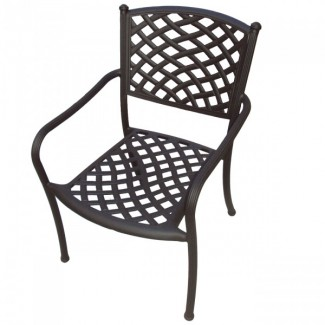 Wrought Iron Restaurant Chairs Madrid Aluminum Arm Chair