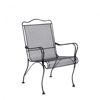 Wrought Iron Restaurant Chairs Tucson High-Back Dining Arm Chair