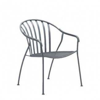 Wrought Iron Restaurant Chairs Valencia Stacking Barrel Arm Chair