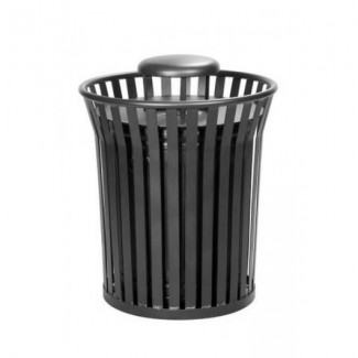 Wrought Iron Restaurant Furniture Trash Can with Rain Bonnet