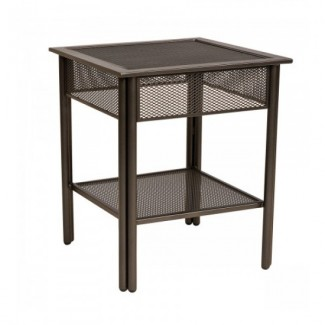 Wrought Iron Restaurant Hospitality Tables Jax Micro Mesh End Table