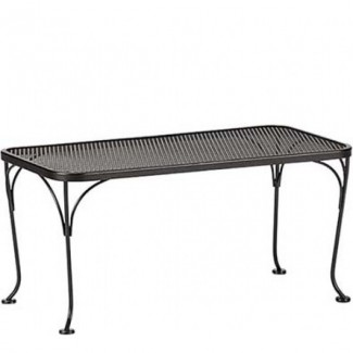 "18"" x 36"" Rectangular Wrought Iron Mesh Top Coffee Table"