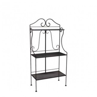 Deluxe Wrought Iron Baker's Rack with Mesh Shelves