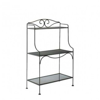 Standard Wrought Iron Baker's Rack with Mesh Shelves