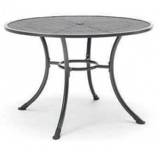 "36"" Round Mesh Top Table with Umbrella Hole"