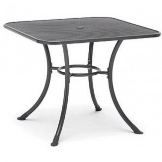 "36"" Square Mesh Top Table with Umbrella Hole"