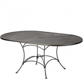 "Bistro Mesh 42"" x 72"" Oval Umbrella Table"