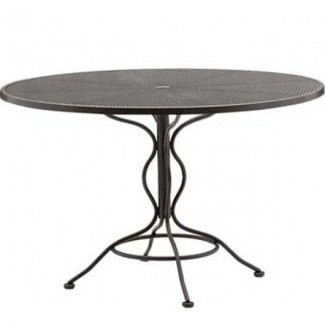 Wrought Iron Restaurant Tables Bistro Mesh 48