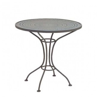 "Parisienne 30"" Round Pattern Metal Top Table"
