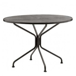 Wrought Iron Restaurant Tables Premium Mesh 42
