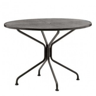 "Premium 48"" Round  Mesh Top Wrought Iron Umbrella Table"